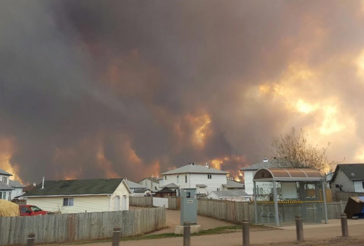Fort McMurray, forest fires, climate change