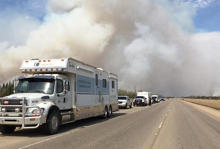RCMP, Fort McMurray, wildfire, deserted, oilsands, oil sands