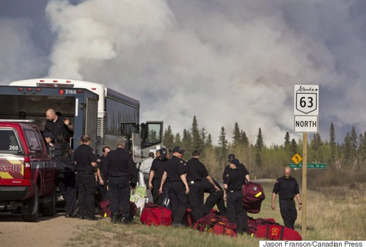 firefighters, Fort McMurray, Fort Mac fire, Red Cross