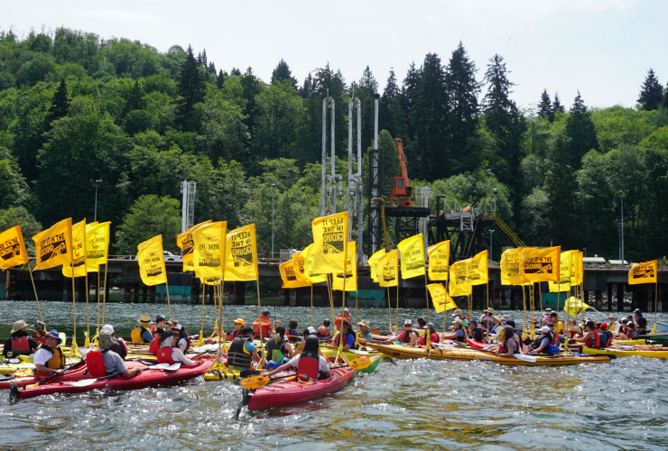 Kinder Morgan, pipeline protest, Trans Mountain expansion, Burnaby, National Energy Board, Greenpeace