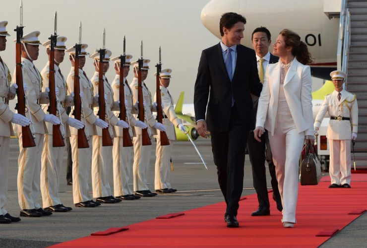 Justin Trudeau, Sophie Grégoire, Japan, G7