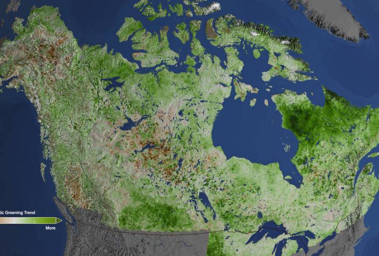 Landsat image shows a greening Arctic. Photo by NASA's Goddard Space Flight Center/Cindy Starr
