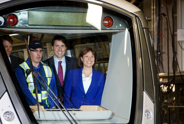 SkyTrain, Justin Trudeau, Christy Clark, public transit, infrastructure