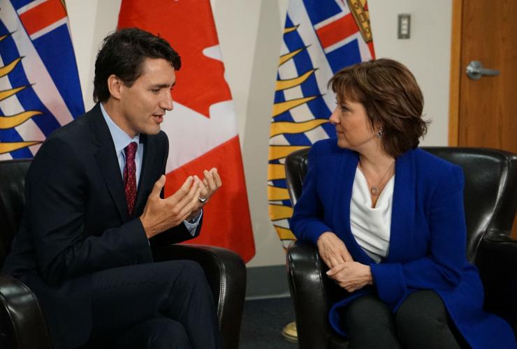 Justin Trudeau, Christy Clark, Vancouver, public transit, pipelines, LNG