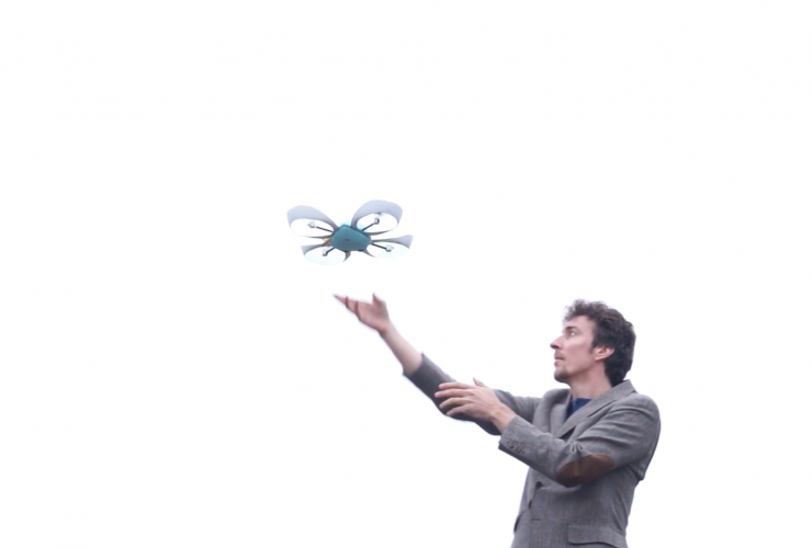 Patrick Edwards-Daugherty, the founder of drone company, Pleiades. Photo from Facebook