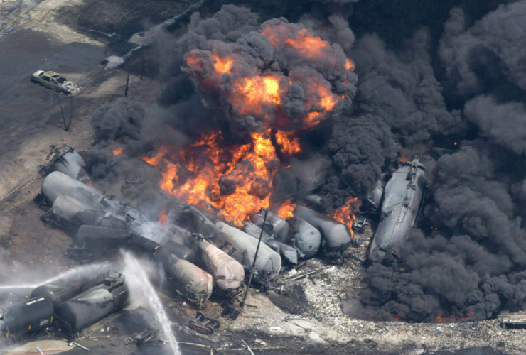 Lac Megantic, oil trains, oil by rail, disaster, crude oil