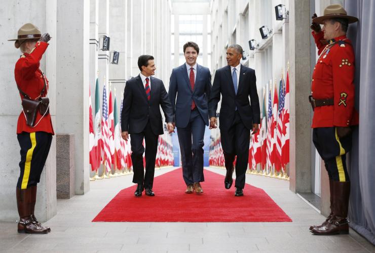 Enrique Nieto, Justin Trudeau, Barack Obama