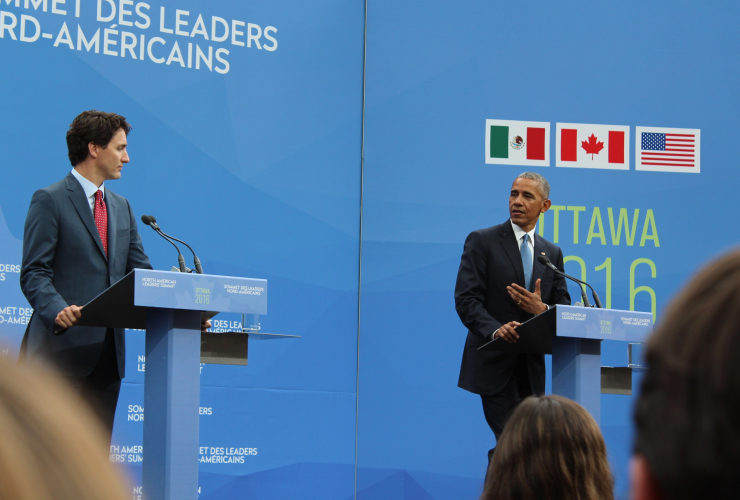 Amigos, Barack Obama, Nieto, Trudeau, Mexico, Canada, United States, Bardish Chagger, Catherine McKenna, Jim Carr