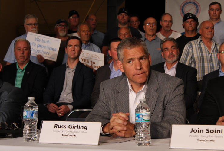 TransCanada Corp, Russ Girling, signing, MOU, unions, Energy East