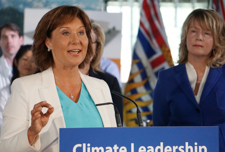 Christy Clark, Climate Action Plan, Climate leadership, carbon tax