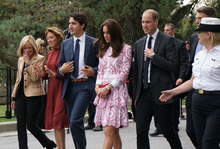 Justin Trudeau, Sophie Gregoire Trudeau, Kate Middleton, Prince William, royal tour