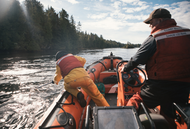 Canadian Coast Guard, Great Bear Rainforest, Bella Bella, diesel spill, Seaforth Channel