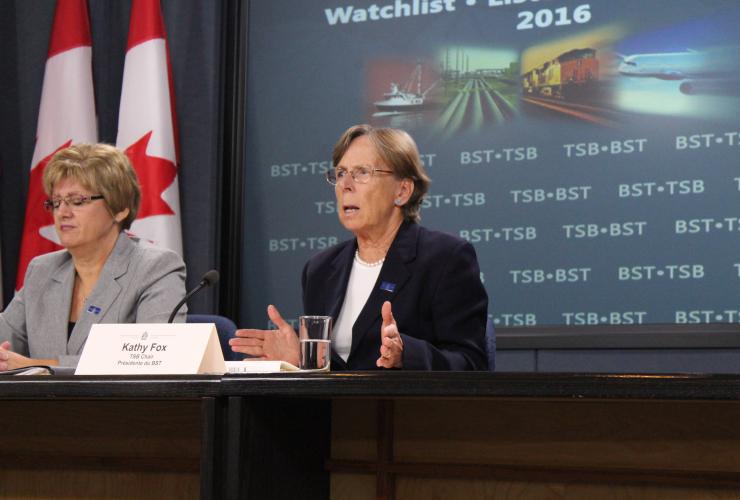 Kathy Fox, Hélène Gosselin, Transportation Safety Board of Canada, watchlist