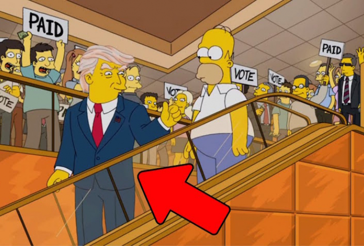 Donald Trump and Homer Simpson, YouTube