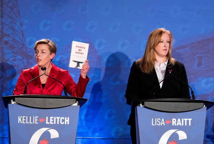 Kellie Leitch, Lisa Raitt, Conservative Party of Canada, debate