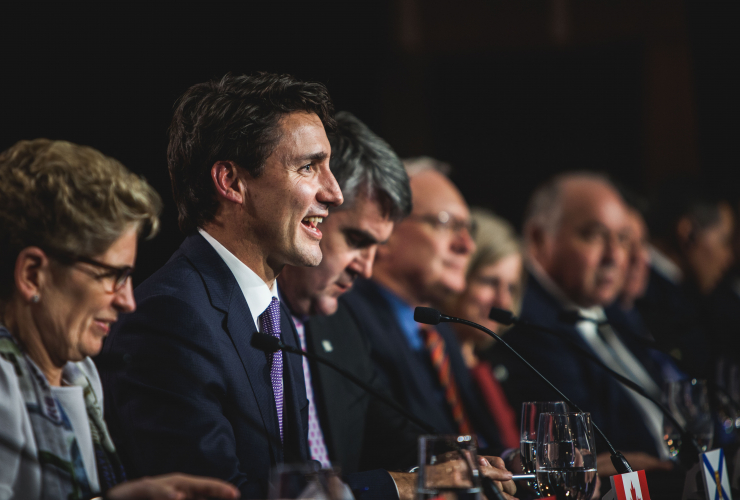 Prime Minister Justin Trudeau, climate change, Canada, premiers