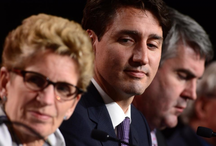 Justin Trudeau, Kathleen Wynne, First Ministers meeting