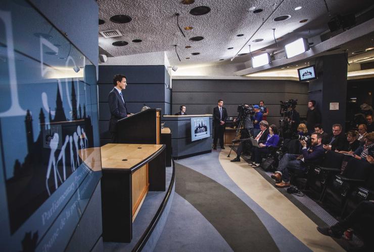 Justin Trudeau, Ottawa, news conference, reporters