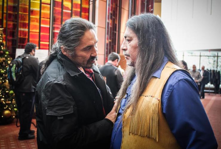 Allan Adam, Serge Simon, Athabasca Fort Chipewyan First Nation, Mohawks of Kanesatake