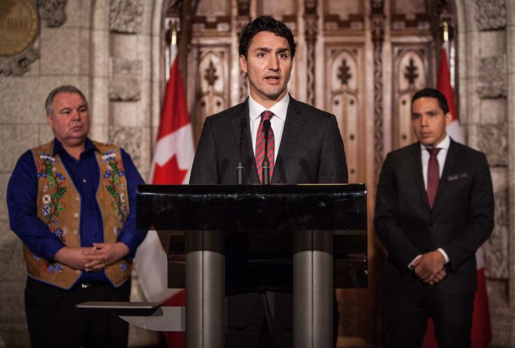 Justin Trudeau, Natan Obed, reconciliation, Ottawa, Parliament Hill