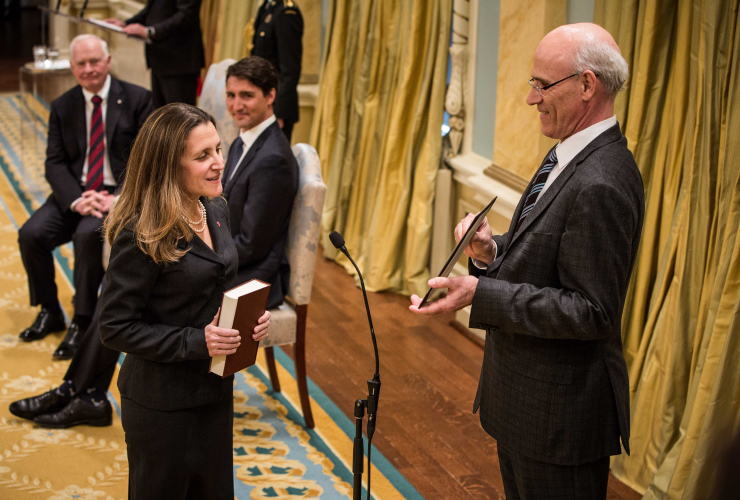 Chrystia Freeland, International Trade Minister, Foreign Affairs, Rideau Hall