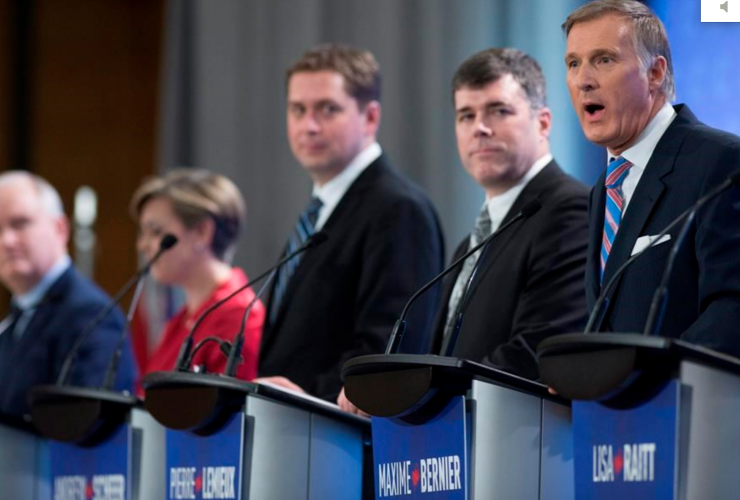 Tory leadership race, Maxime Bernier, Kellie Leitch, Andrew Scheer
