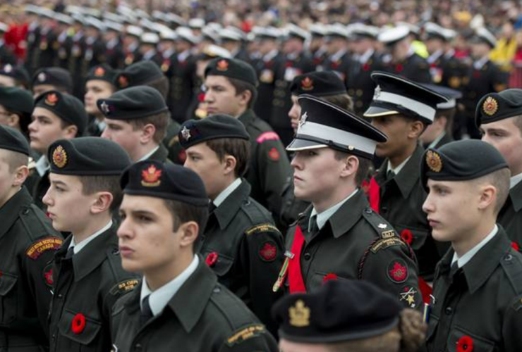 Canadian Armed Forces, Remembrance Day, cadets