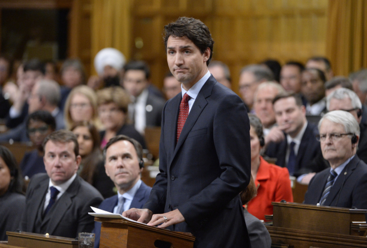 Prime Minister Justin Trudeau announced on Wednesday that the Liberals wouldn't follow through on their promise to reform the voting system in time for the 2019 election. Photo by Adrian Wyld/Canadian Press.