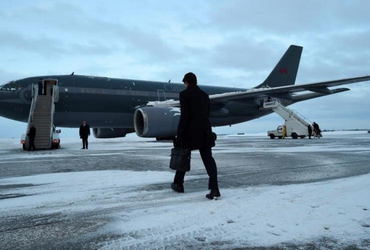 Challenger Jet, Justin Trudeau, Donald Trump, Washington
