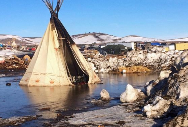 Dakota, pipeline protest camp, US