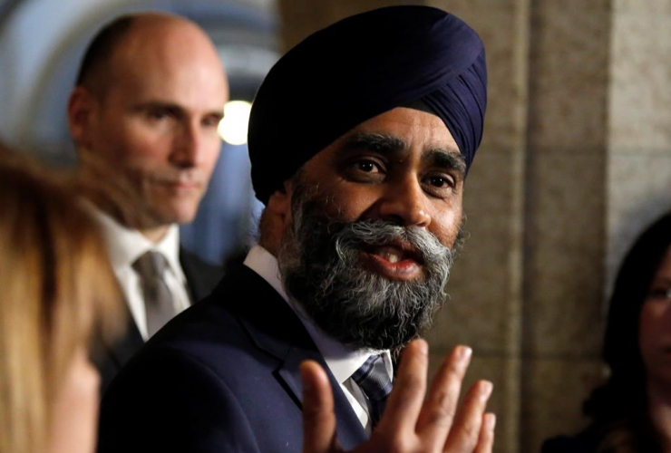 Defence Minister Harjit Sajjan makes an announcement on Parliament Hill in Ottawa on Thursday, March 9, 2017