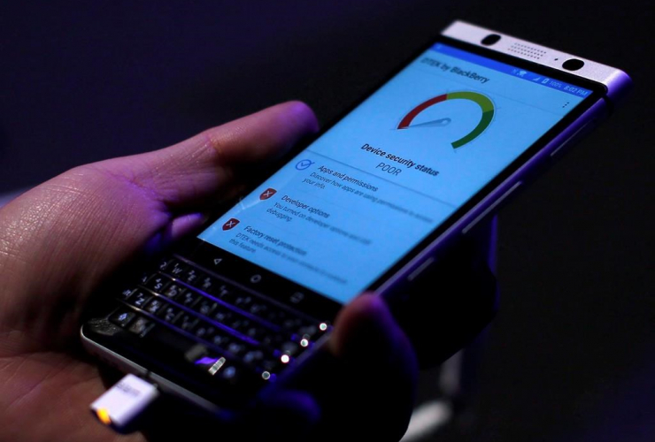 BlackBerry KEYone before the Mobile World Congress