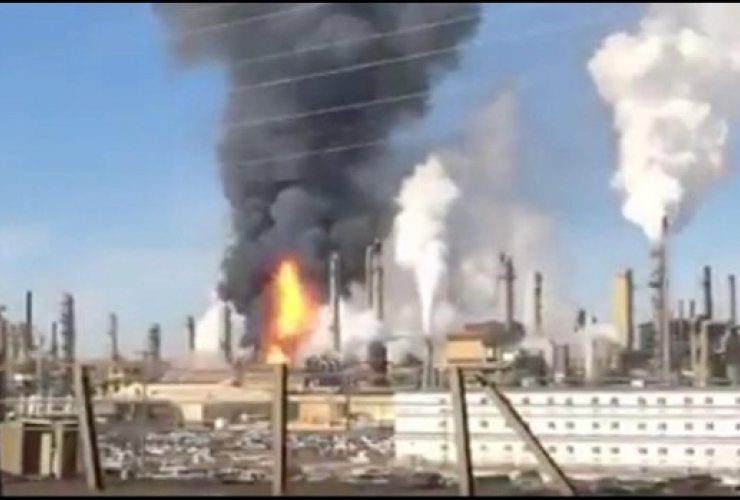 Syncrude, fire, oilsands, Alberta, Fort McMurray