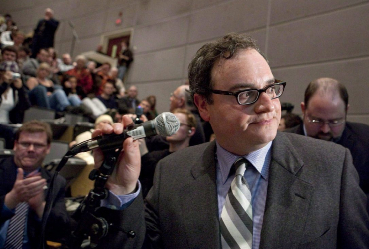 """The Rebel founder Ezra Levant, shown here in this 2010 file photo, is standing by a contributor behind a video entitled """"10 Things I Hate About Jews."""" Photo by the Canadian Press."""