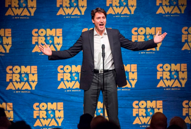Justin Trudeau, new York City, Broadway, Come From Away, musical, Ivanka Trump