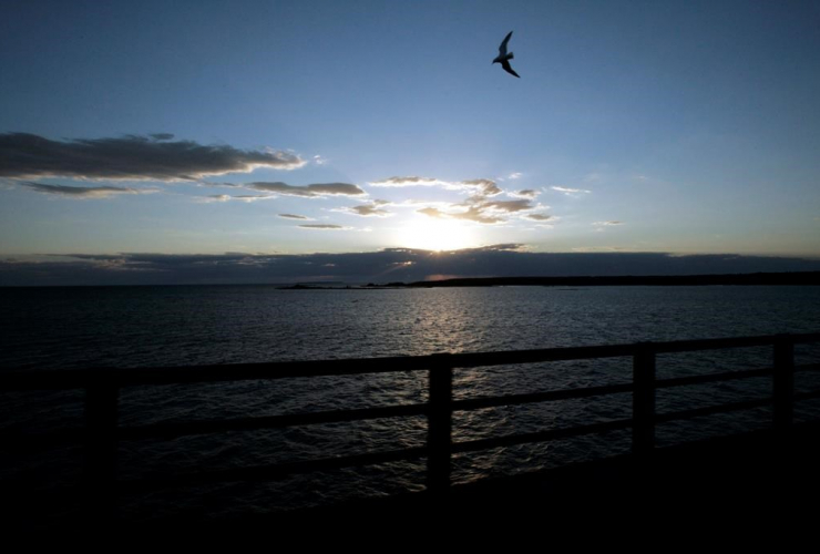 - In a June 30, 2005 file photo, Michigan's Upper Peninsula and Lake Michigan is seen from the Mackinac Bridge in Mackinaw City, Mich. President Donald Trump wants to eliminate federal support of a program that addresses the Great Lakes' most pressing env