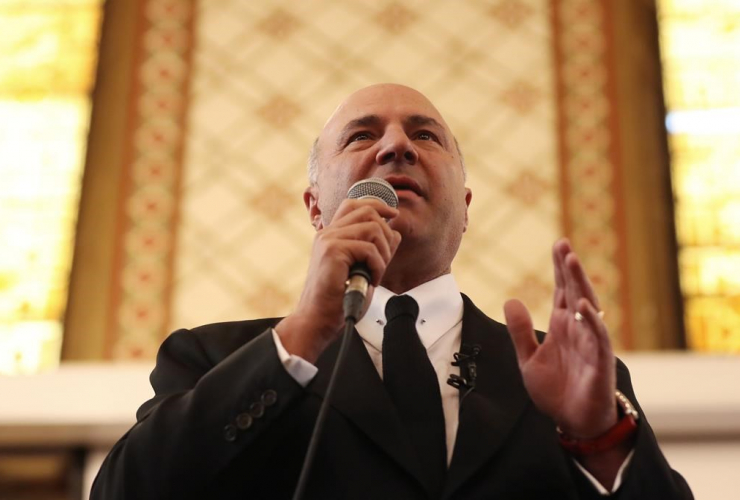Conservative leadership candidate Kevin O'Leary speaks at Queen's University, in Kingston, Ont., on Thursday, March 16, 2017.