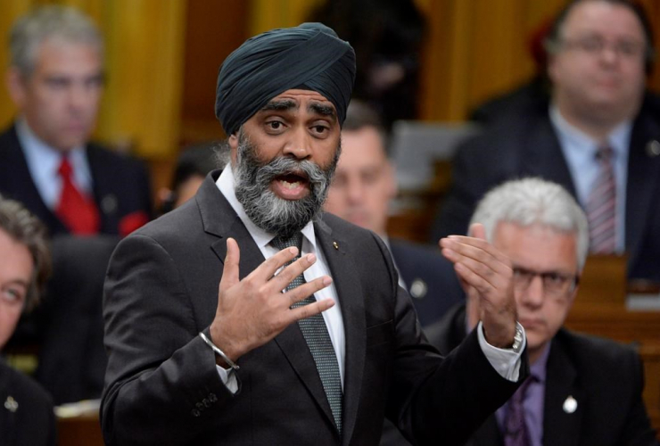 Defence Minister Harjit Sajjan answers a question during Question Period in the House of Commons in Ottawa, Tuesday, March 21, 2017.