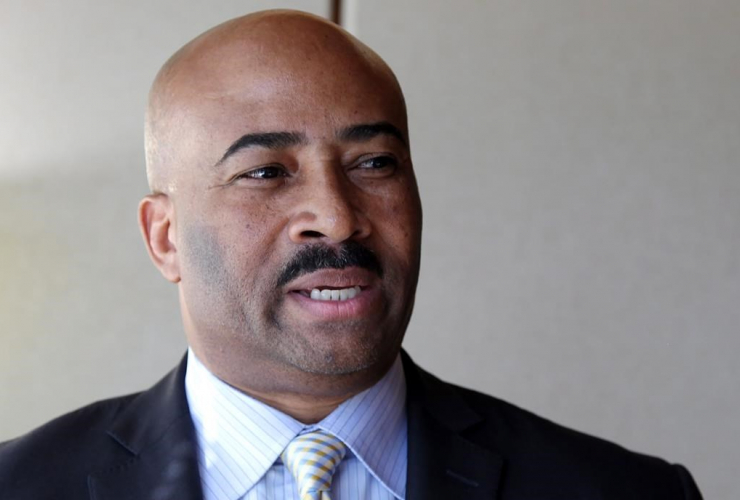 Embattled Sen. Don Meredith is seen in his Toronto lawyer's office in downtown Toronto on Thursday, March 16, 2017.