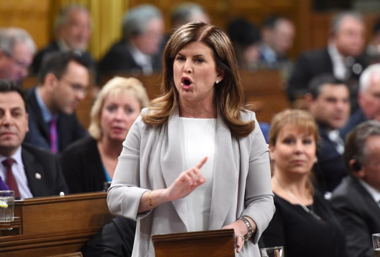Interim Conservative Leader Rona Ambrose asks a question during question period in the House of Commons on Parliament Hill in Ottawa on Monday, April 3, 2017.