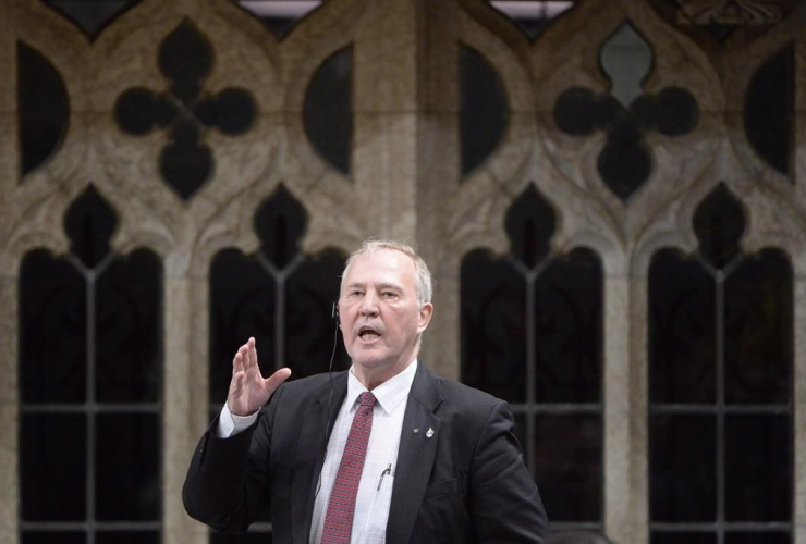 Liberal MP Bill Blair responds during Question Period in the House of Commons on Parliament Hill, in Ottawain a February 25, 2016