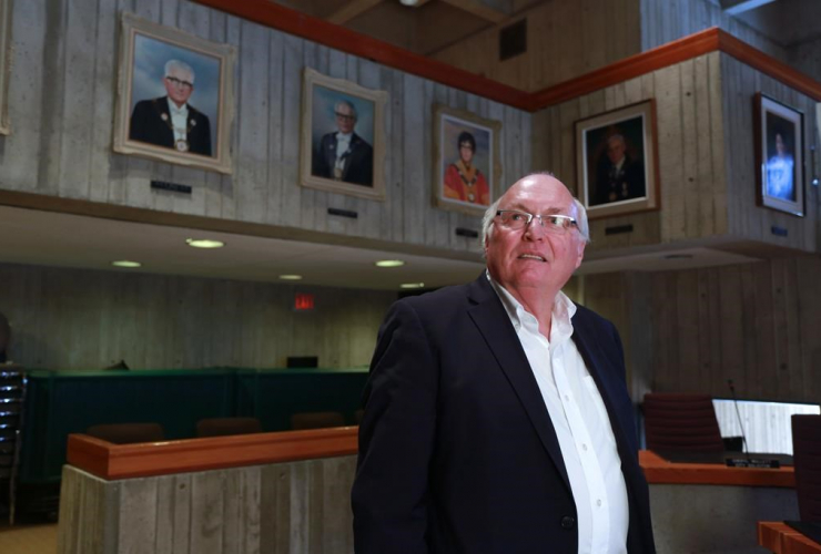 St. John's city councillor Tom Hann stands in the Council Chamber of St. John's City Hall on Tuesday, April 5, 2017.