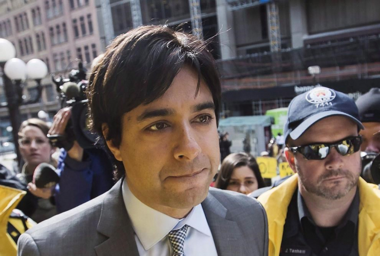 Former CBC host Jian Ghomeshi arrives at court in Toronto, Wednesday, May 11, 2016. Ghomeshi has resurfaced with an online music and podcast series.