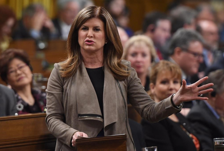 Interim Conservative Leader Rona Ambrose asks a question during Question Period in the House of Commons in Ottawa, Tuesday, April 4, 2017.