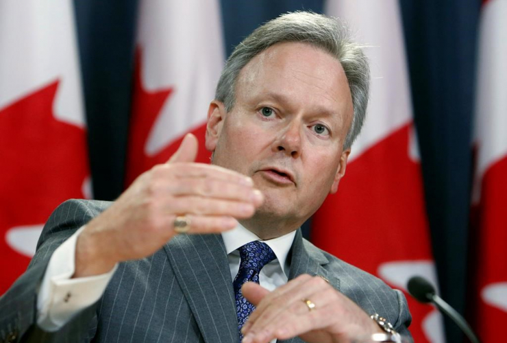Stephen Poloz, Governor of the Bank of Canada, holds a news conference after the release of the bank's Monetary Policy Report, in Ottawa, Wednesday, April 12, 2017.