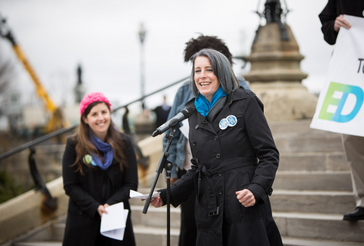Debi Daviau, Katie Gibbs, Professional Institute of the Public Service of Canada, PIPSC, Evidence for Democracy, Ottawa, March for Science