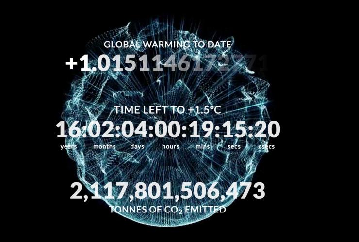 Climate Clock, David Usher, Human Impact Lab, Montreal