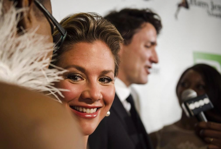 Sophie Gregoire Trudeau smiles during the Harry Jerome Awards held in Mississauga, Ont., on Saturday, April 22, 2017.