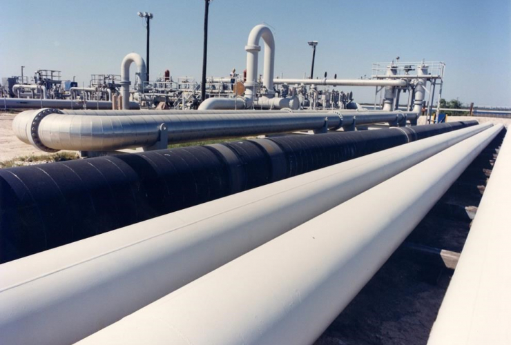 An undated photo provided by the Energy Department shows crude oil pipes at the Bryan Mound site near Freeport, Texas. File photo by The Department of Energy via AP