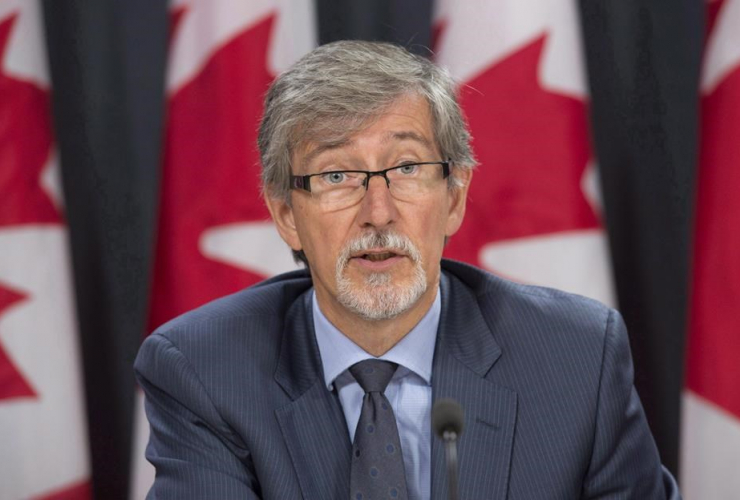Privacy commissioner Daniel Therrien is seen during a press conference in Ottawa, Tuesday, September 27, 2016.